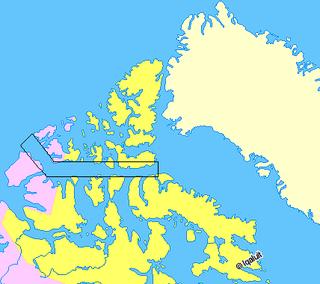 waterway in Canadian Arctic Archipelago