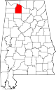 Map of Alabama highlighting Lawrence County.svg