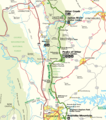 Map of Blue Ridge Parkway from James River to Roanoke.png