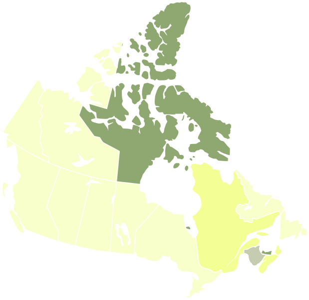 File:Map of Canada, abortion access.svg