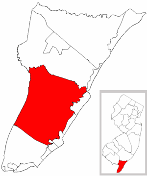 Middle Township, New Jersey - Image: Map of Cape May County highlighting Middle Township