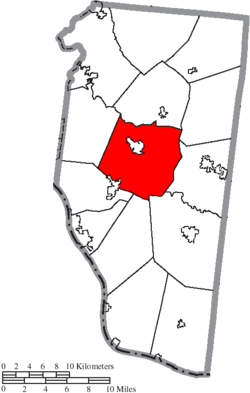 Location of Batavia Township in Clermont County
