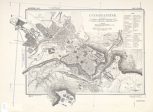 Constantine (Algeria) - US Army map of Constantine during the Second World War