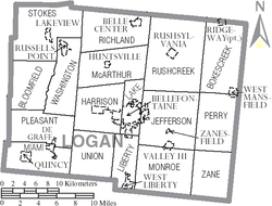 Municipalities and townships of Logan County