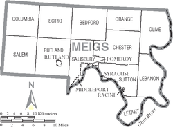 Map of Meigs County Ohio With Municipal and Township Labels.PNG