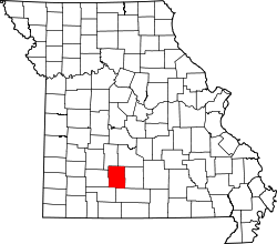 Map of Missouri highlighting Webster County.svg