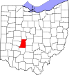 State map highlighting Madison County