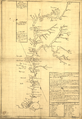 Map of Orinoco River that Includes Visible Islands and Tributaries at the Delta of the River, 1732 WDL525.png