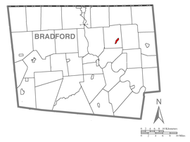 Map of Rome, Bradford County, Pennsylvania Highlighted.png