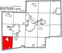 Location of Sugar Creek Township in Stark County
