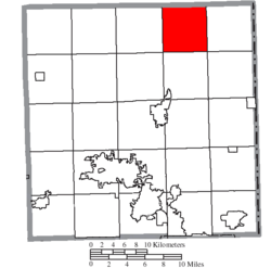 Location of Gustavus Township in Trumbull County