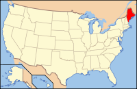 Map of the U.S. highlighting Maine