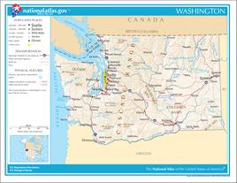 Karte von Washington (Bundesstaat)