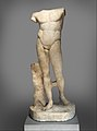 Marble statue of the Diadoumenos (youth tying a fillet around his head) MET DP327371.jpg