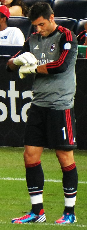 Marco Amelia - Marco Amelia with Milan in 2012