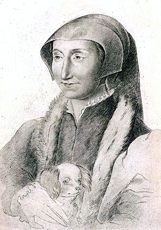 Marguerite de Navarre - Marguerite de Navarre, from a crayon drawing by François Clouet, preserved at the Bibliothèque nationale de France, Paris