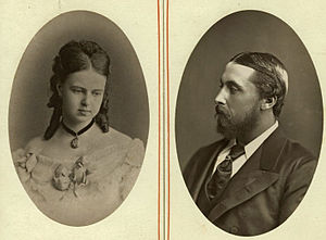 Grand Duchess Maria Alexandrovna of Russia - Grand Duchess Maria Alexandrovna and Prince Alfred around the time they met. 1868.