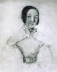 Selbstporträt Maria Wodzińskas im Alter von 17 Jahren, 1836 (Quelle: Wikimedia)
