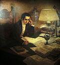 Mariano Moreno en su mesa de trabajo.jpg