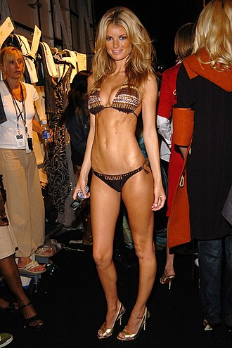 Marisa Miller - Miller backstage at the Fashion for Relief show, a charity event in aid of victims of Hurricane Katrina