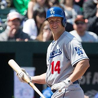 Mark Ellis (baseball) - Ellis with the Los Angeles Dodgers
