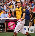 Mark Trumbo competes in semifinals of '16 T-Mobile -HRDerby. (27954729433).jpg