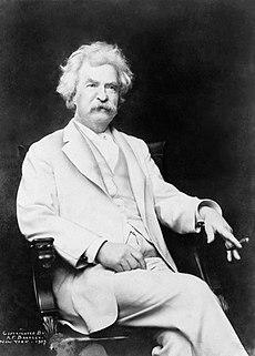 Photograph of Mark Twain