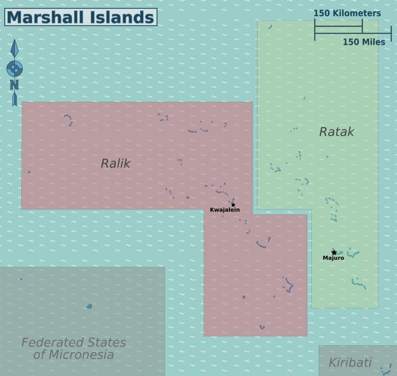 Wikivoyagekarte der Marshallinseln