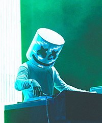 Marshmello Performing At The Mad Decent Block Party 2016