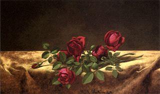 Roses Lying on Gold Velvet