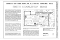 Martin Luther King, Jr. National Historic Site, Smith-Charleston House, 509 Auburn Avenue Northeast, Atlanta, Fulton County, GA HABS GA,61-ATLA,52- (sheet 1 of 4).png