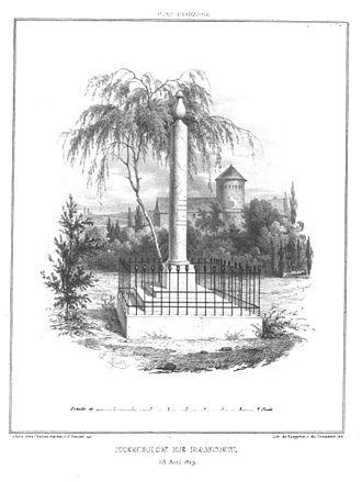 Pierre Paul Nicolas Henrion de Pansey - Funerary Monument of Henrion de Pansey at Montparnasse Cemetery in 1839