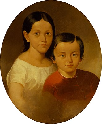 Henry Hoʻolulu Pitman - Portrait of Henry and his sister Mary at the Peabody Essex Museum