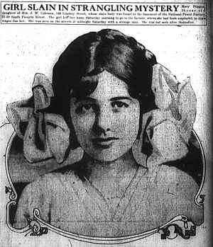 Marietta, Georgia - Mary Phagan as depicted in the Atlanta Journal