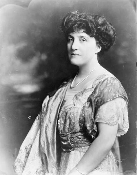 Mary Roberts Rinehart, in a 1914 photo by Theodore C. Marceau. Image courtesy Library of Congress Prints & Photographs Division via Wikimedia Commons.