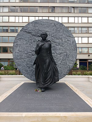 2016 in art - Image: Mary Seacole statue, St Thomas' Hospital, front view