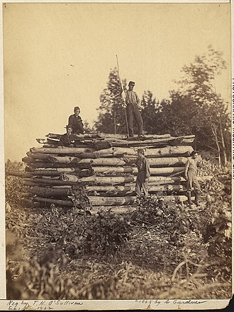 Timothy H. O'Sullivan - Image: Maryland, Elk Mountain, Signal Tower NARA 533296