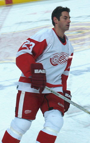 Mathieu Schneider - Schneider with the Detroit Red Wings during the 2006-2007 season