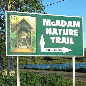 McAdam, New Brunswick - McAdam Nature Trail - Located behind McAdam Train Station