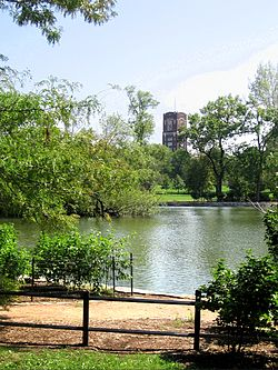 The McKinley Park Lagoon, looking south