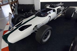 McLaren M2B - Image: Mc Laren M2B front left Donington Grand Prix Collection