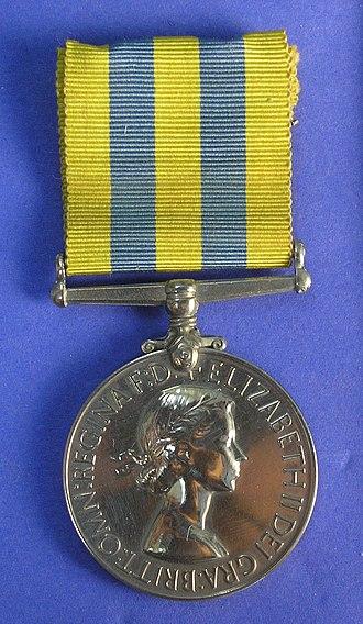 Korea Medal - Image: Medal, campaign (AM 1996.185.10 8)