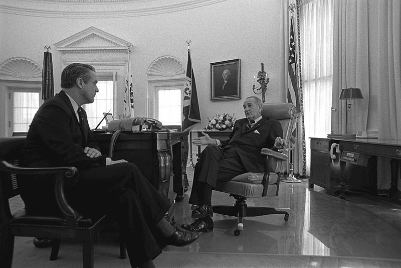 File:Meeting LBJ Shriver.jpg