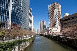 Río Meguro en Ōsaki, Shinagawa