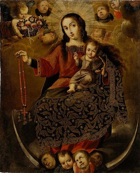 File:Melchor Pérez Holguín - Virgin of the Rosary - 1994.37.3 - Dallas Museum of Art.jpg