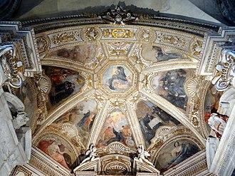 Mellini Chapel (Santa Maria del Popolo) - The frescos of vault by Giovanni da San Giovanni