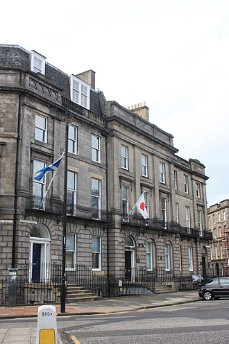 John Miller (engineer) - Miller's house in Melville Crescent, Edinburgh (centre)