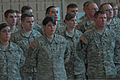 Members of the Army Reserve's 364th Sustainment Command (Expeditionary) stand in formation during the commissioning of the Marysville Armed Forces Reserve Center, in Marysville, Wash., April 1, 2012 120401-A-RB545-158.jpg