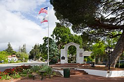 Memorial Arch in downtown Saratoga