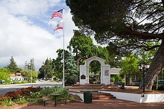 Saratoga, California - Memorial Arch in downtown Saratoga